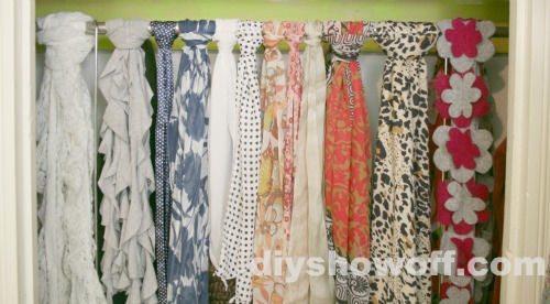 scarves within easy reach