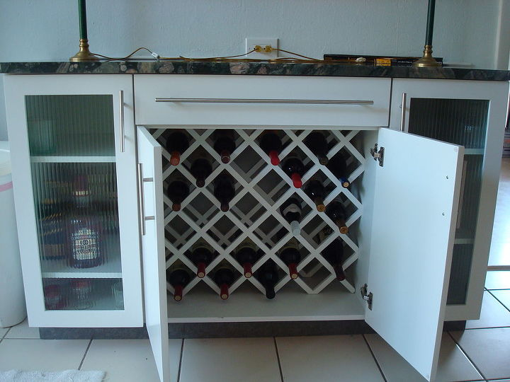 Wine rack........ready for guests.