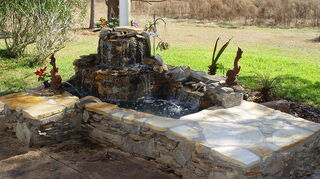 replacing pondless waterfall, outdoor living, ponds water features, One side of yard