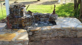 replacing pondless waterfall, outdoor living, ponds water features, The backyard I was not able to see with old waterfall