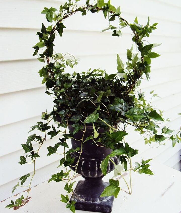 how to create a topiary from a wire hanger this project is simple and easy, gardening, Create Your Own Topiary
