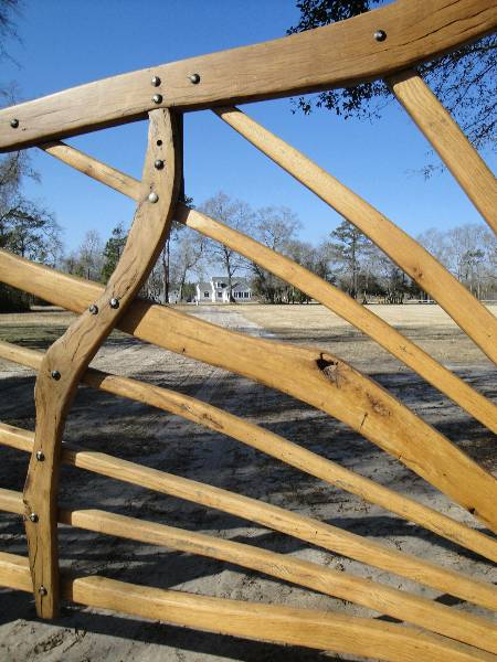 Solid Oak Entry Gate