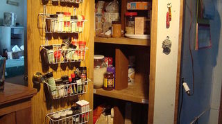 pantry problem or problem pantry, closet, shelving ideas, pantry from front with door open