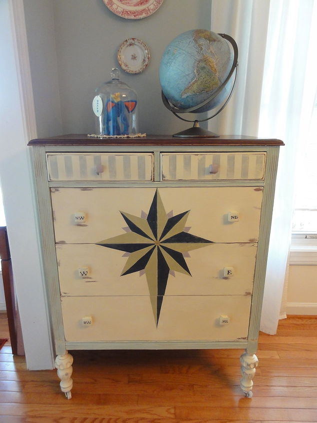 this dresser was not that beautiful in person dull dried with lots of old glue that, painted furniture, When Little Gypsies Take To The Sea after a little Annie Sloan chalk pInt magic