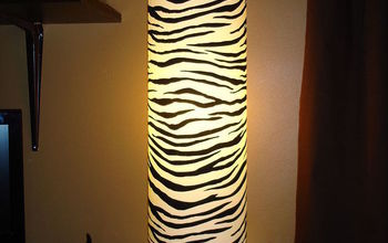 erins room makeover she s 10 and has always loved animals, bedroom ideas, home decor, Zebra print barrell lamp