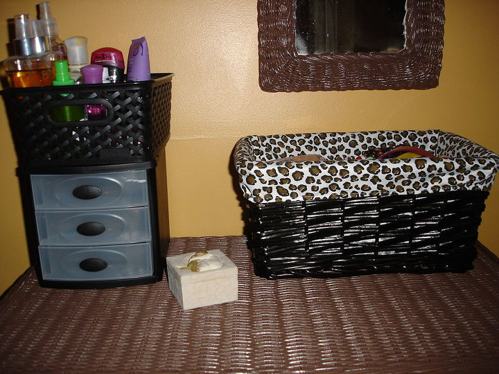 Grooming center! love the basket for hair accessories!