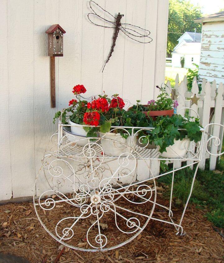 My vintage flower cart