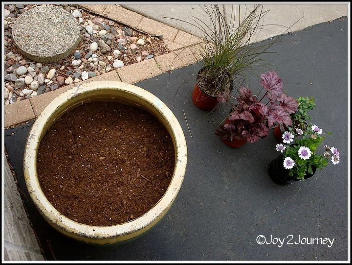 planting a planter, gardening