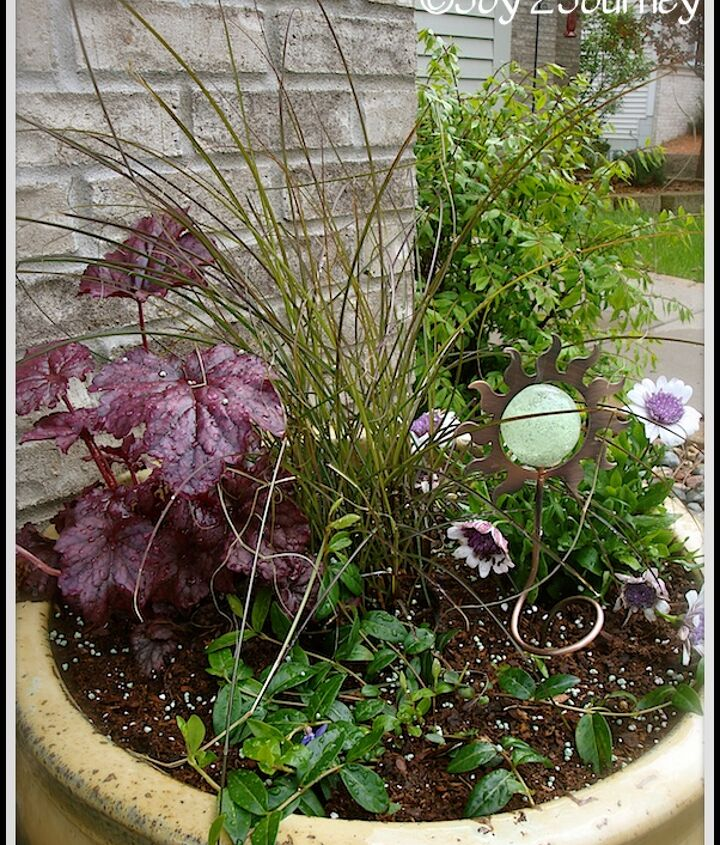 planting a planter, gardening