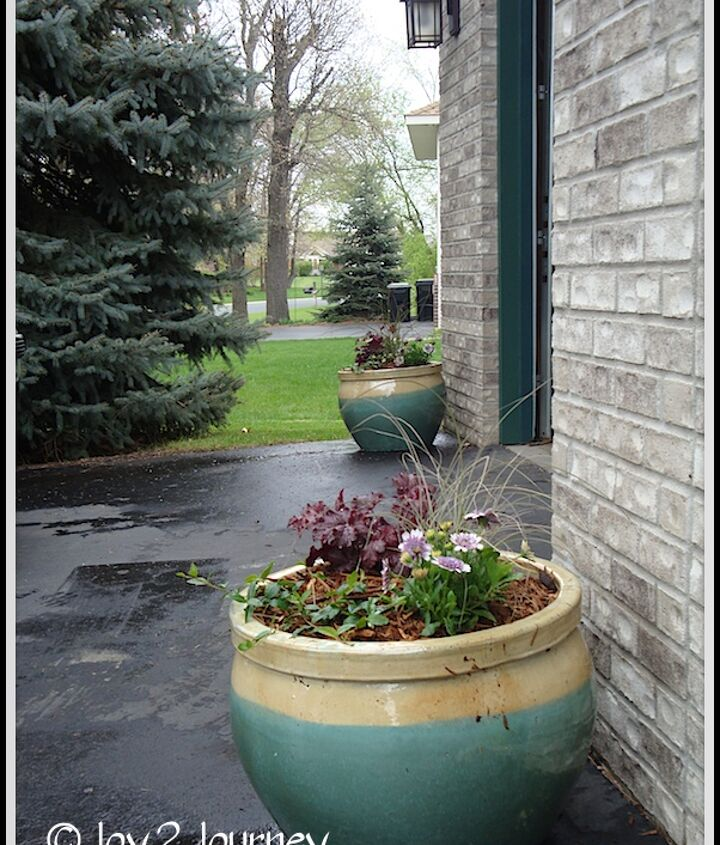 3 planters all done and waiting for summer :)