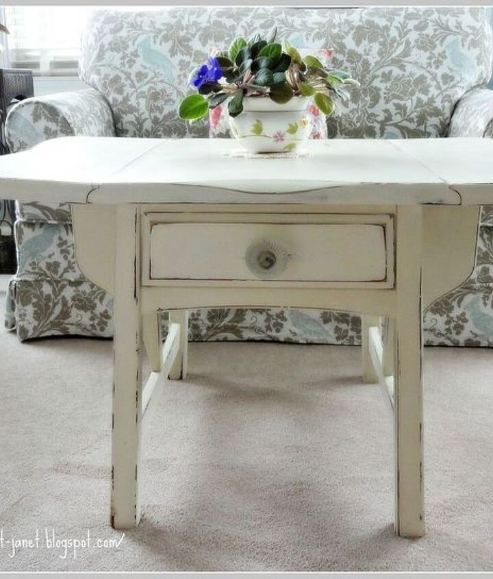 After...light and pretty cottage table