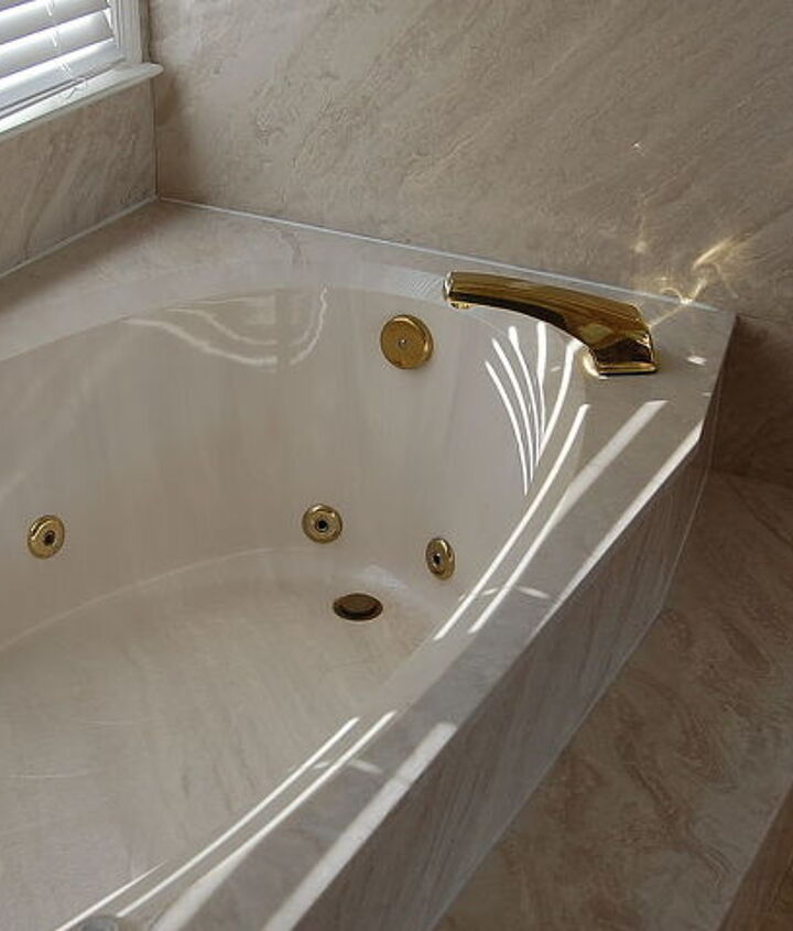 q i have a cultured marble garden tub that needs the bezel trim rings at the jets and, home maintenance repairs, plumbing