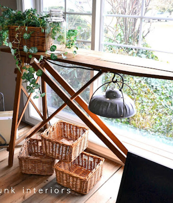 Naturally a little bit of repurposing had to come into play somewhere. :)http://www.funkyjunkinteriors.net/2011/03/pallet-farm-table-desk-part-3-reveal.html