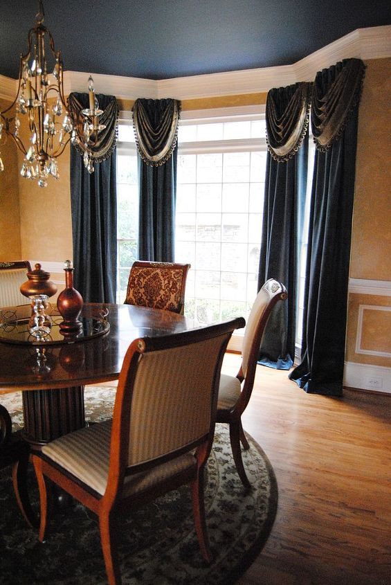 We had the drapes made to add the fullness those windows needed