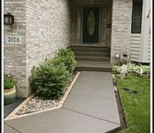 staining a concrete walkway, concrete masonry, outdoor living, After