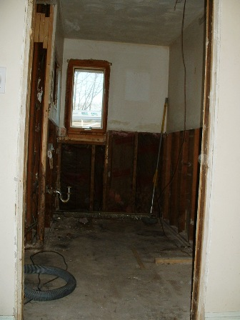 Bathroom yet to be worked on