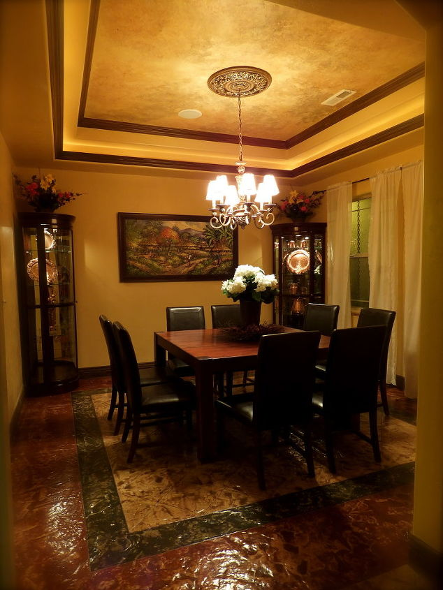 our formal dining room, dining room ideas, home decor, Took us a while to decorate a square formal dining room