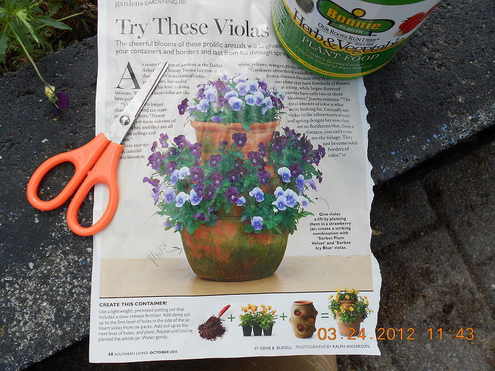 better home & garden magazine on strawberry container