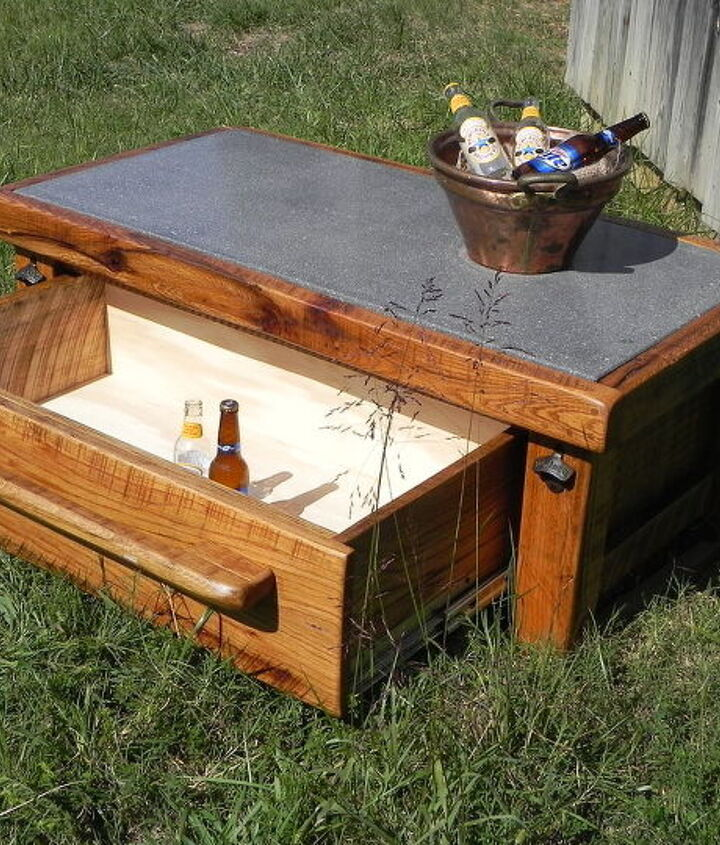And a cooler drawer that an hold 4 cases of your favorite beverage.