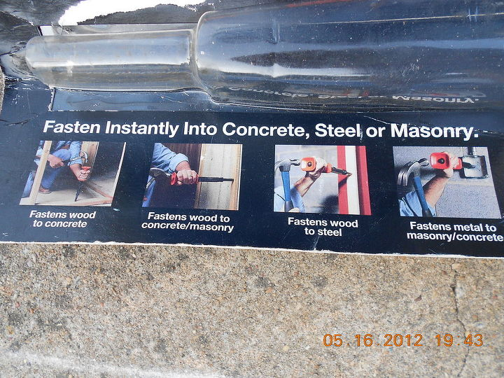 q it is for my sun room roof repair project how to fasten metal to concrete with 4x4, concrete masonry, decks, home maintenance repairs, how to, roofing, tools