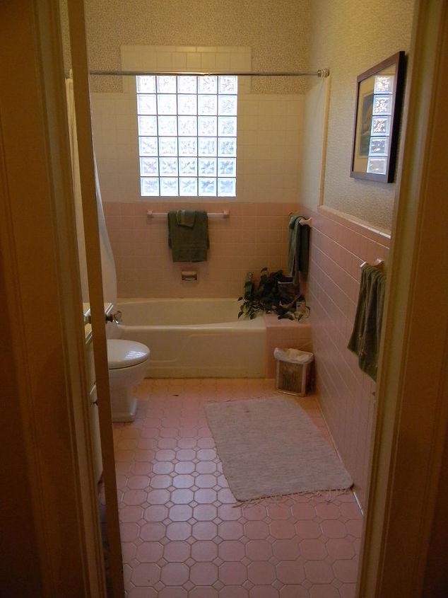 BEFORE- pink bathroom