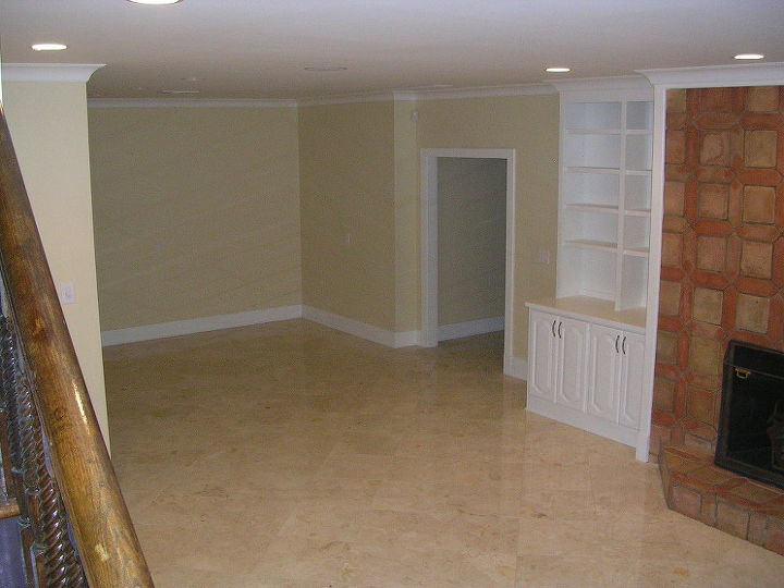 the basement in this house was destroyed in a flood when a pipe burst upstairs, basement ideas, home improvement