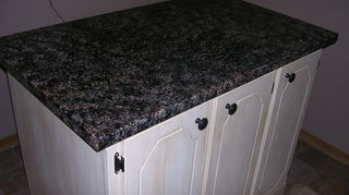 q want to paint my kitchen countertops to look like stone travertine or limestone any, countertops, kitchen design, painting, Kitchen Counter top AFTER using Giani Granite PAINT