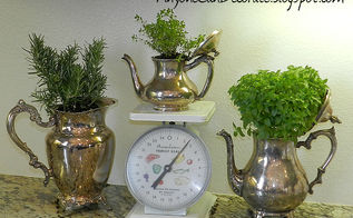 my diy silver kitchen herb garden, gardening, kitchen design