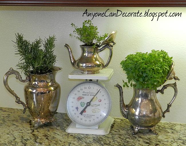 my diy silver kitchen herb garden, gardening, kitchen design