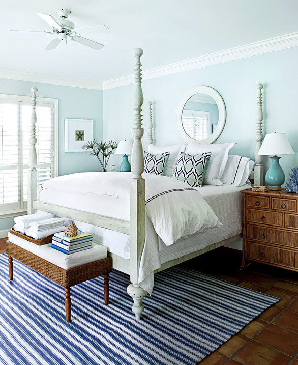 The sea-inspired color scheme turns this once dark and dated bedroom into a timeless treasure. Shop the guest bedroom > http://wayfair.ly/1053q5z