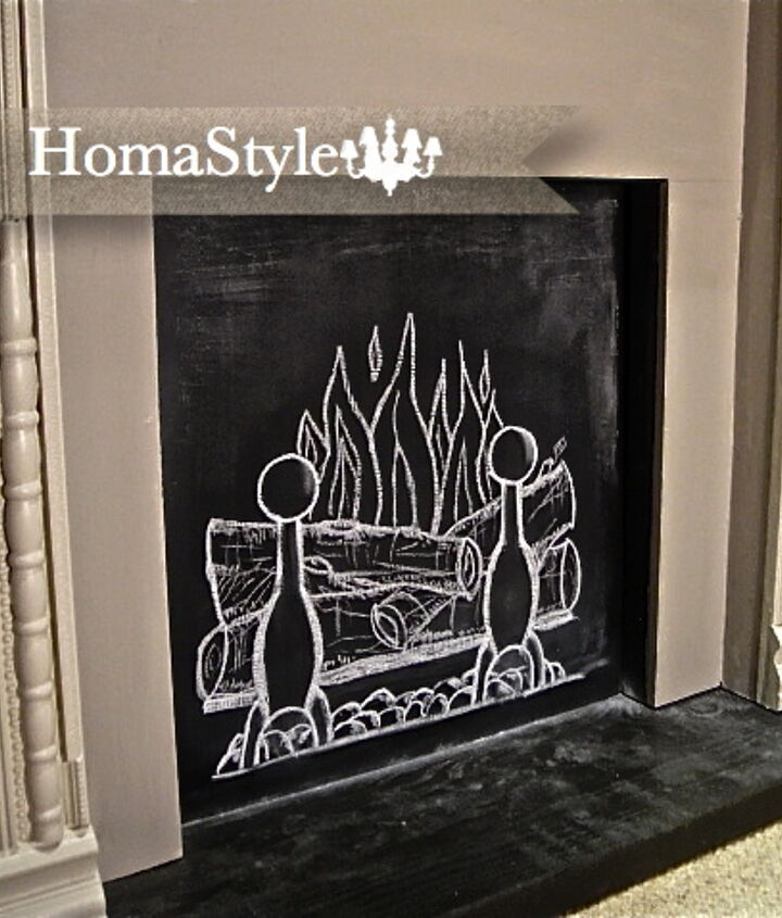 chalk fire, chalk paint, home decor, painting