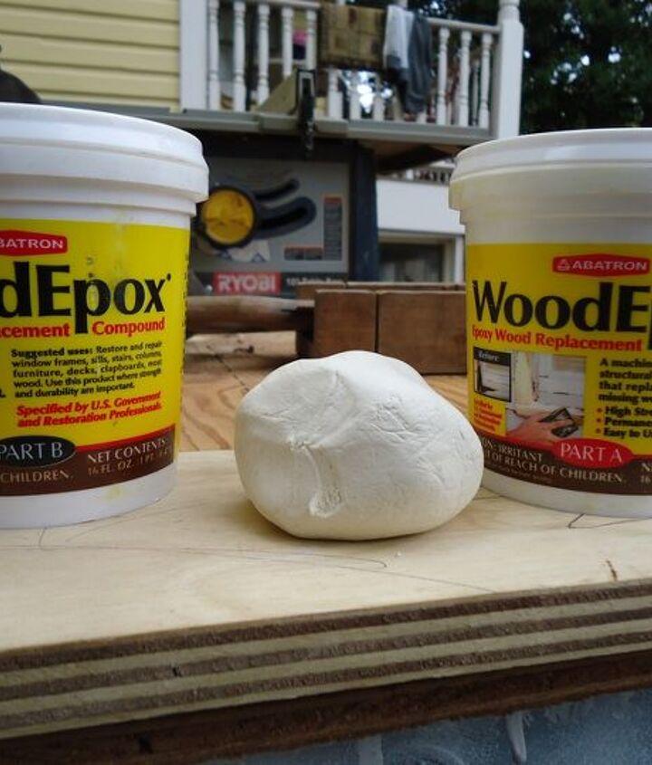 Abatron's WoodEpox is like dough.