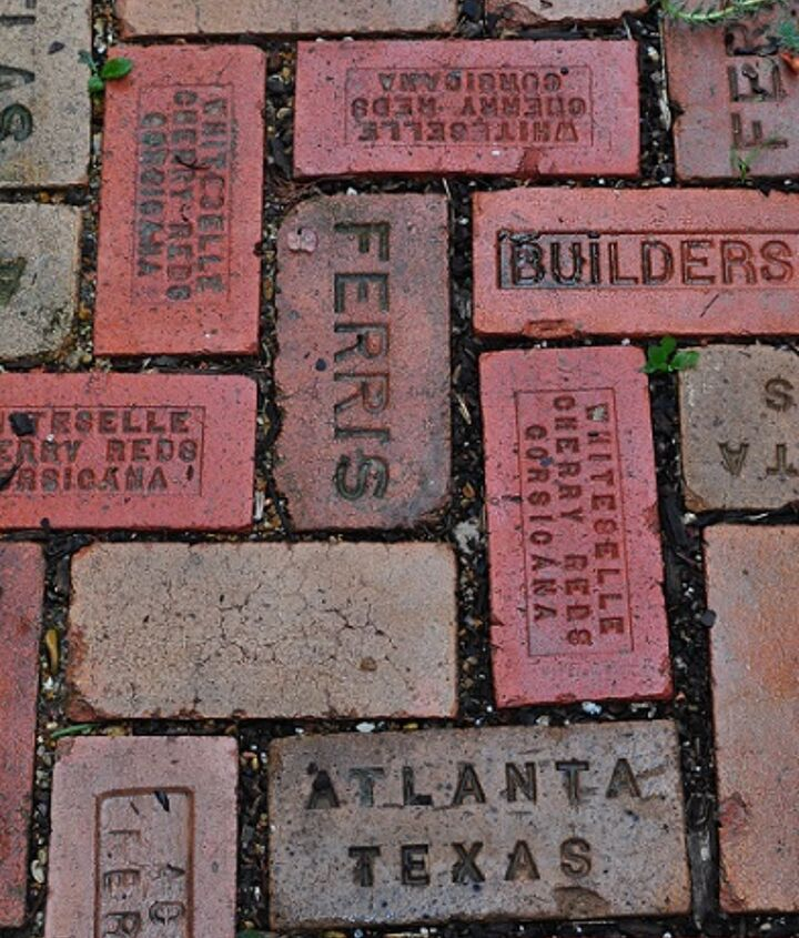 Love the look of the old recycled bricks with writing on them