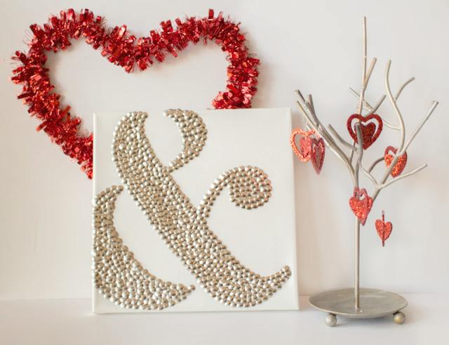 ampersand thumbtack art, crafts, seasonal holiday decor