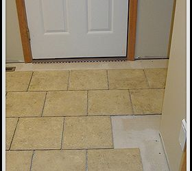 Newly Tiled Mudroom Floor And Attached Bathroom, Flooring, Laundry Rooms,  Tile Flooring,