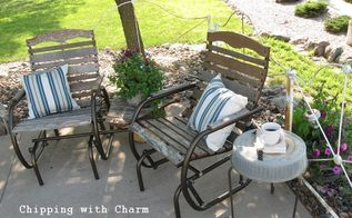 plant stand to side table easy as that, home decor, patio, repurposing upcycling, This cozy spot just got cozier
