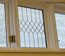 faux leaded glass window, windows, 5 Once the leading lines were in place I applied the Gallery Glass crystal clear directly onto the glass When it dried to clear after 24 hours it added instant character to my 100 year old home