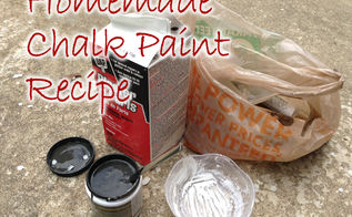 homemade chalk paint recipe plaster of paris, chalk paint, painted furniture, 1 8 ounce pot of paint this is 1 cup 2 1 2 tablespoons of Plaster of Paris 2 tablespoons of cold water