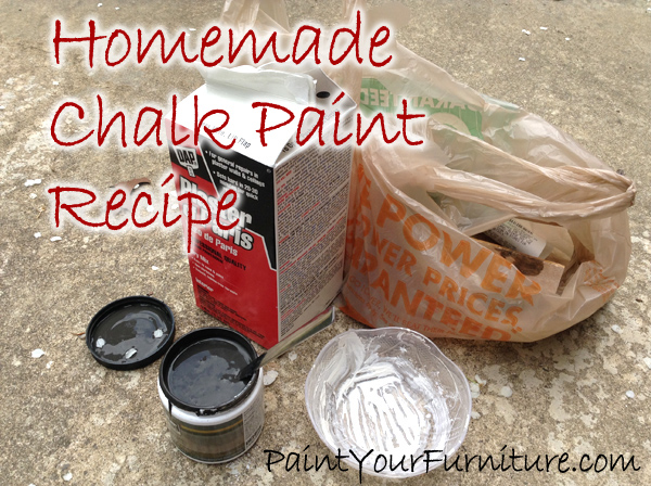 1 – 8 ounce pot of paint (this is 1 cup),  2 1/2 tablespoons of Plaster of Paris, 2 tablespoons of cold water