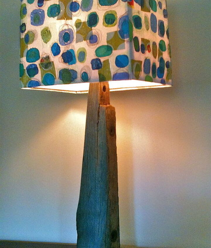 "This home-made lamp stands 32""tall.  It has a fraternal twin."