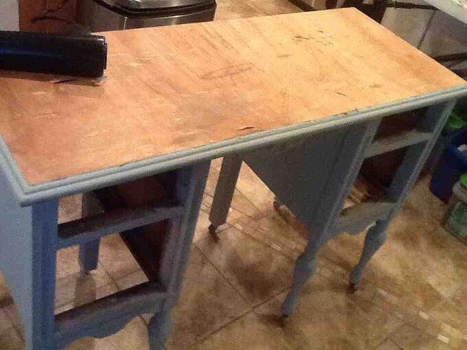 stripping veneer easy, painted furniture, Totally stripped 15 minutes