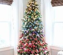 a rainbow inspired christmas tree, christmas decorations, seasonal holiday decor, Created by Inspired by Charm 12days72ideas IBCholiday