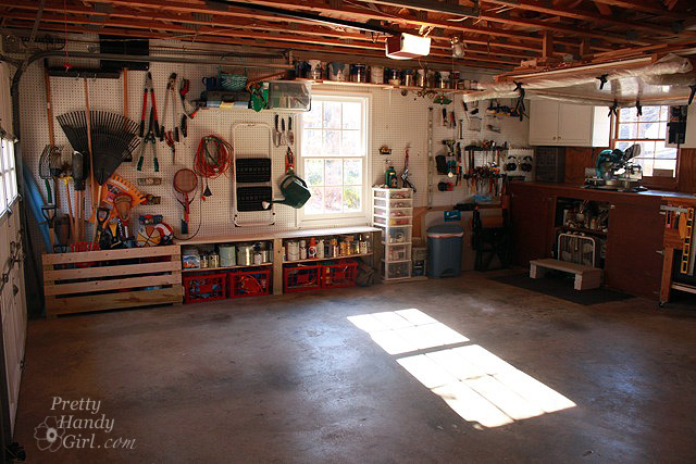 Aaaahhh. An organized garage/workshop.