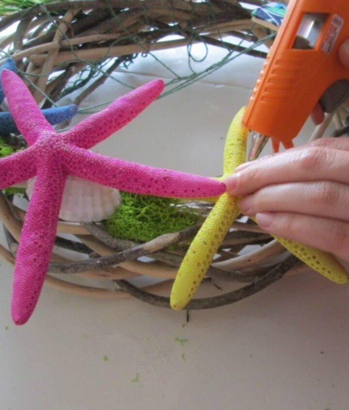 diy summer wreath, crafts, decoupage, wreaths
