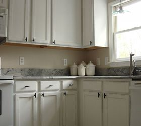 Old Oak Cabinets Painted White And Distressed, Diy, Kitchen Cabinets,  Kitchen Design, ...