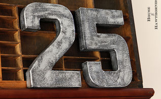making zinc letters numbers for the holidays, crafts, painting, seasonal holiday decor, My two numbers took about about ten minutes not counting the time it took to dry