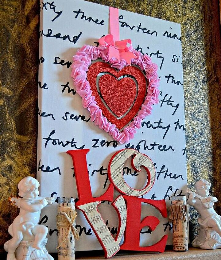 my valentine s day mantel, seasonal holiday d cor, valentines day ideas, wreaths