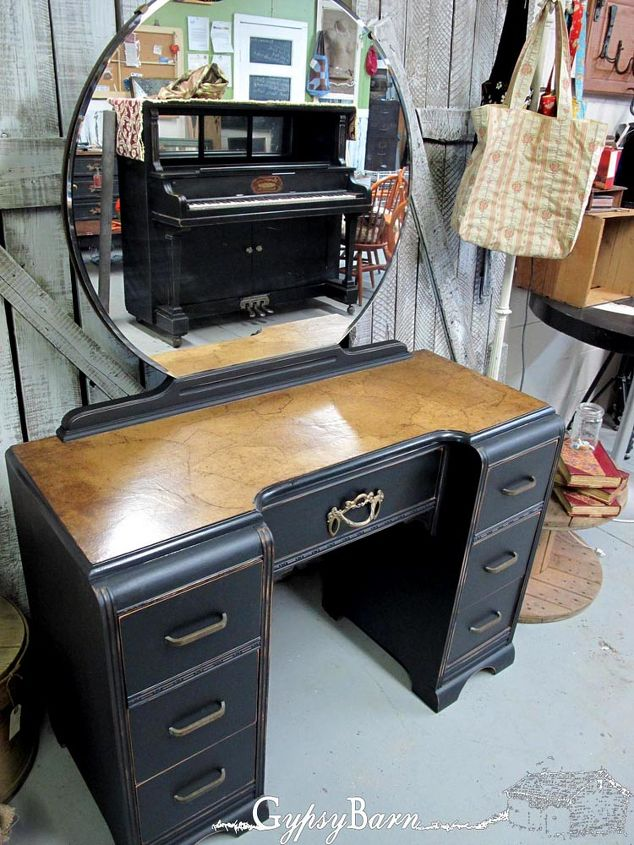 paper top tutorial, painted furniture, Here is the final look when applied to a piece of furniture I have also seen a great tutorial on Hometalk here using it for flooring