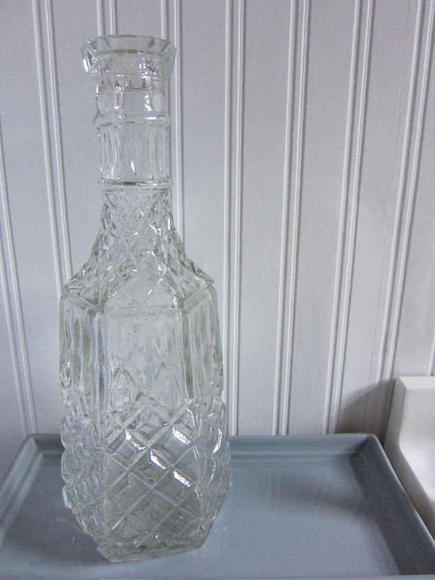 original glass vase before painting