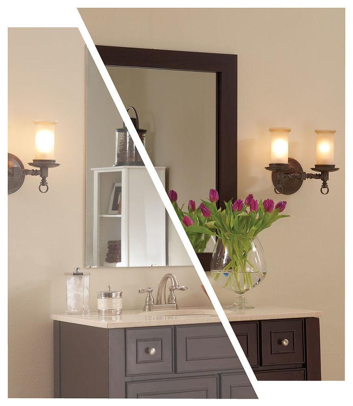 Framing A Plate Glass Bathroom Mirror With Mirrormate Frames Ideas Home Decor